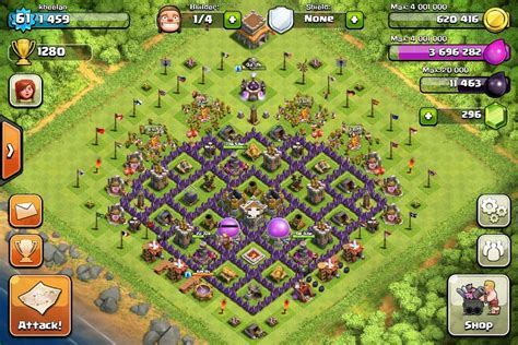 clash of clans layout strategy level 8 clash of clans tips town hall level 8 layouts