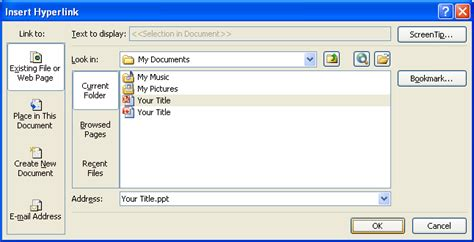 tutorial powerpoint hyperlink insert a hyperlink between documents hyperlink 171 slides