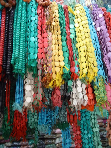 bead market on turquoise and