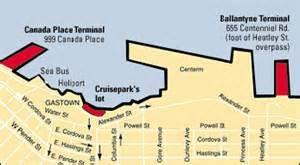 map of canada place cruise ship terminal vancouver cruise ship vancouver cruise ship information