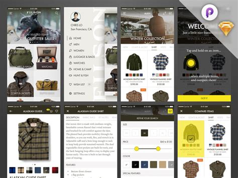 Home Design Shopping App ecommerce ui kit web template shopping cart free resources