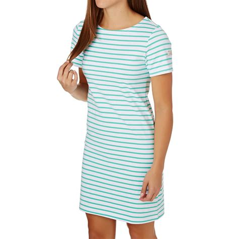Blue Sorry With Stripe Sml Dress joules riviera jersey t shirt dress stripe blue free delivery options