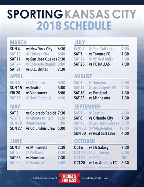 printable kansas city royals baseball schedule 2018 sporting kc 2018 schedule announced tickets for less