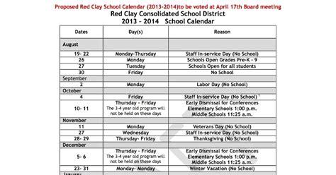 Clay School Calendar Clay Calendar 2014 2015 Calendar Template 2016