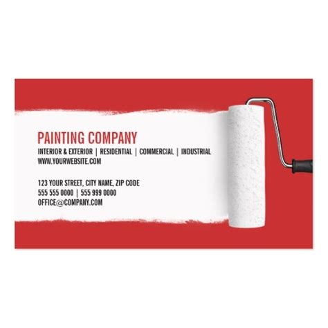 painting business cards templates construction business card templates page21 bizcardstudio