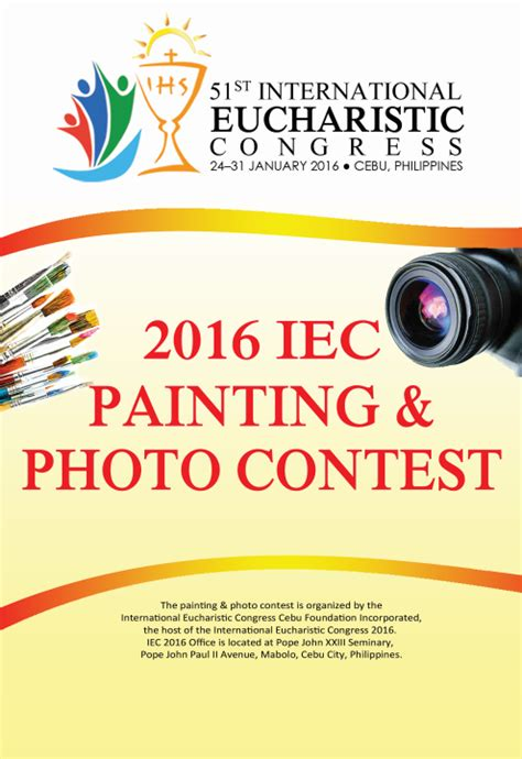 design contest philippines 2016 iec 2016 photo and painting contest international