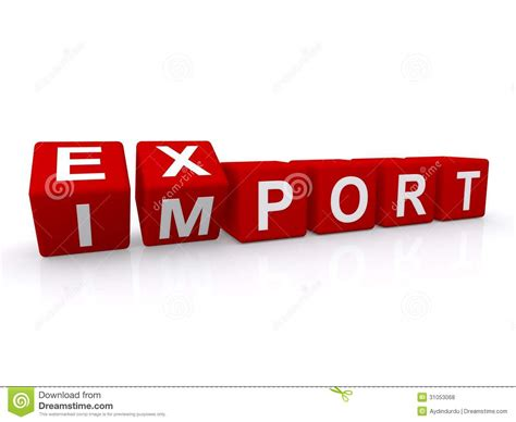 import export import export sign royalty free stock photos image 31053068