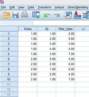 tutorial spss indonesia data view spss uji statistik