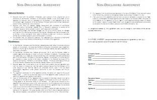 Nda Contract Template by Non Disclosure Agreement Template Free Agreement And