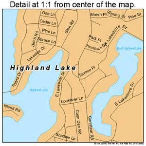 highland lakes map highland lake new jersey map 3431405