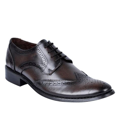 buy hitz brown leather formal shoes for snapdeal