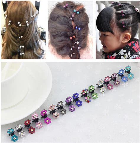 36pcs hair pins bridal flower crystal rhinestone mini hair claws wholesale small size 20mm bridal flower crystal rhinestone