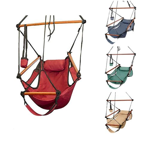 hammock swing chair hammock hanging chair air deluxe outdoor chair solid wood