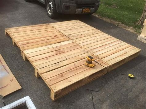 Pallet Platform Bed Diy Pallet Platform Bed Pallet Furniture Diy