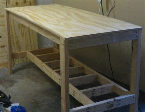how to build a work bench how to build a garage workbench free plans woodguides