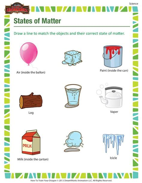 Grade Matter Worksheets by States Of Matter Printable Science Worksheets For 3rd