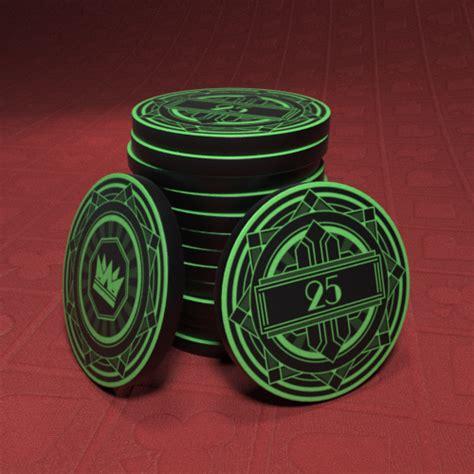 black crown art deco  poker chip cards