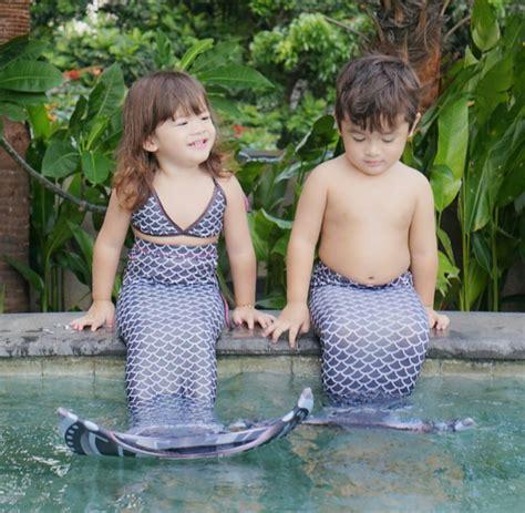 Dress Casual Box Blue Dress Anak Cakep Banget baju putri duyung mermaid toko bunda