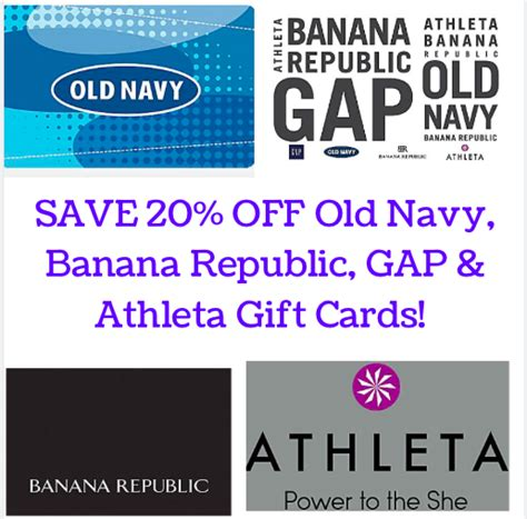 Can I Use My Gap Gift Card At Old Navy - staples com save 20 on gap old navy banana republic athleta gift cards