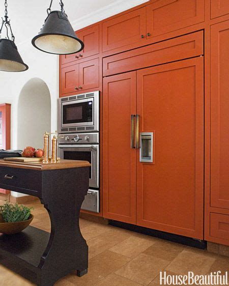 Orange Kitchen Cabinet | a bold burnt orange kitchen orange kitchen burnt