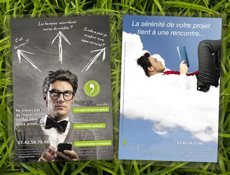 flyer agence immobiliere limaginee
