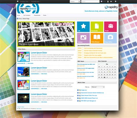 sharepoint layout design exles best intranet designs and exles claromentis
