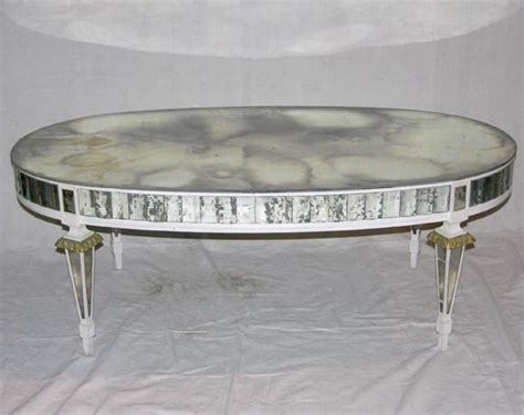 Oval Mirrored Coffee Table Oval Mirrored Coffee Table At 1stdibs