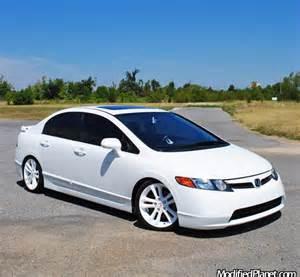 Honda Civic 08 Rims 2007 Honda Civic Si Sedan With Oem Factory White Powder