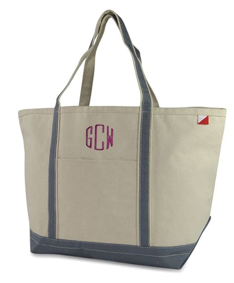 personalized boat tote bags extra large canvas boat tote personalized