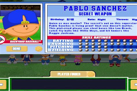 backyard baseball roster backyard baseball technique