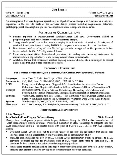 software engineer resume exle resume exles and