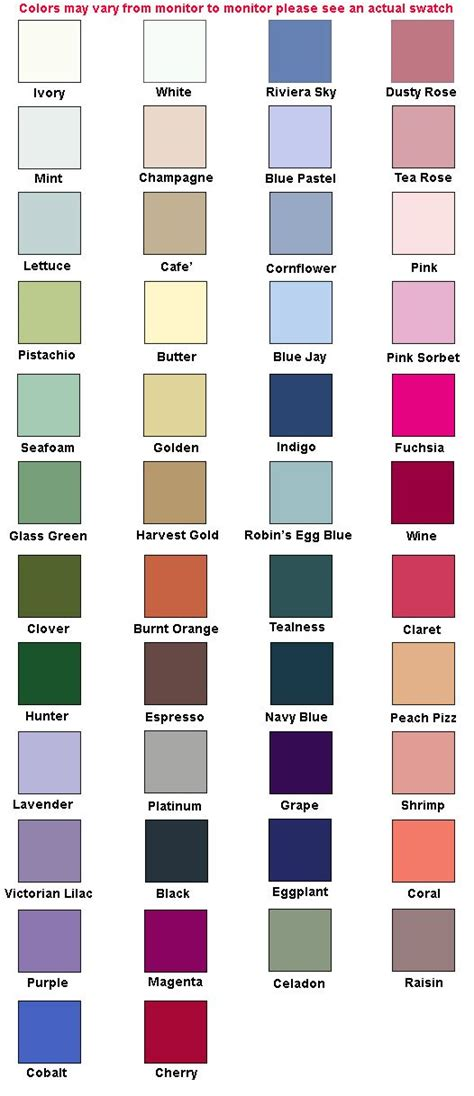 alfred angelo colors alfred angelo color chart blue pink yellow and white