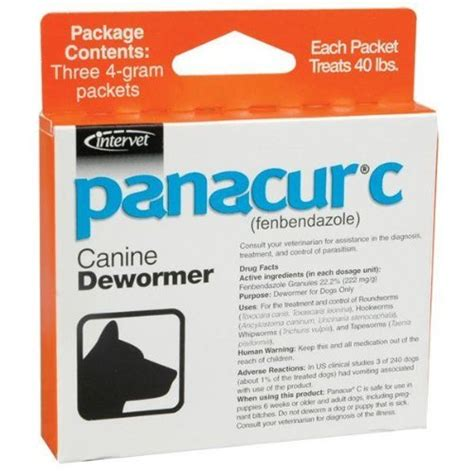 panacur for dogs panacur canine dewormer 4 gram my pet supplies
