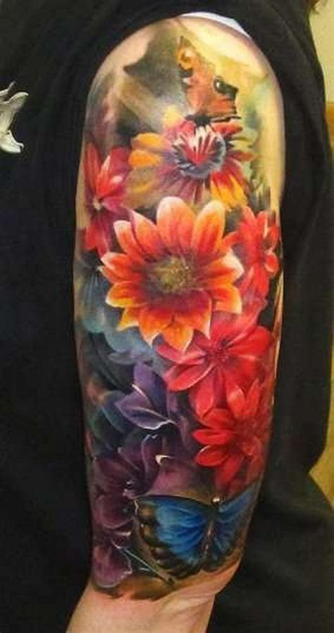 tattoo flower half sleeves floral sleeve tattoos tattoo ideas mag