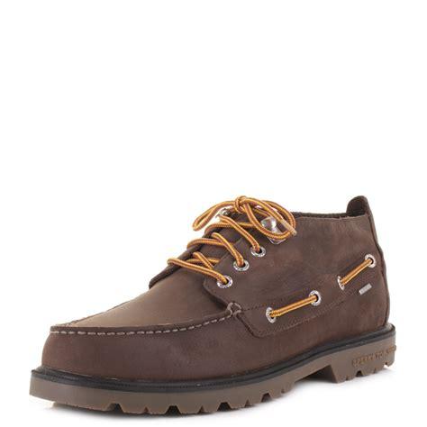 waterproof boat shoes mens sperry top sider brown lug chukka waterproof deck