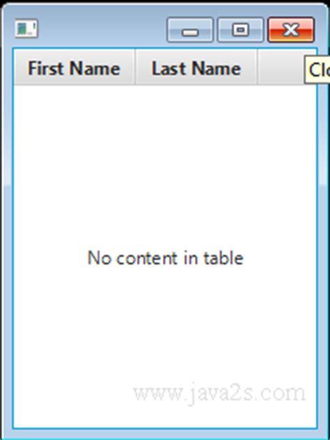 javafx table view layout javafx tutorial javafx tableview
