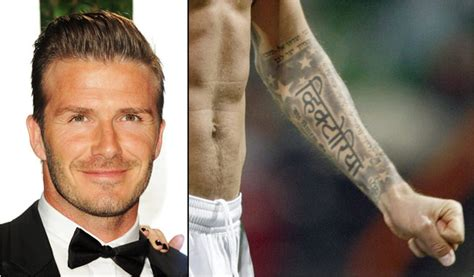 beckham tattoo spelt wrong david beckhams tattoo of his wifes name is spelled wrong