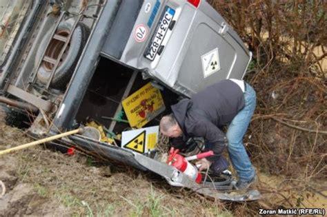 van transporting radioactive material crashes in bosnia