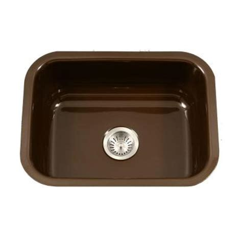 porcelain undermount kitchen sink houzer porcela series undermount porcelain enamel steel 23 in single bowl kitchen sink in