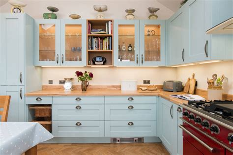 country blue kitchen ideas to complement country house style