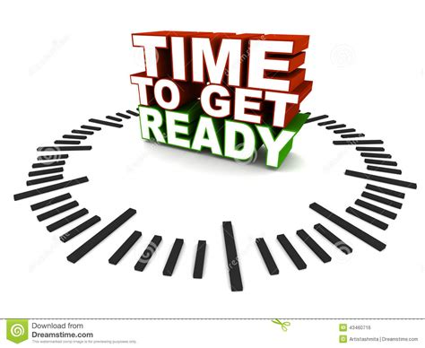 To Get A Be A by Time To Get Ready Stock Illustration Image 43460716