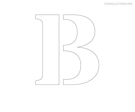 printable alphabet stencils large large printable letter stencils stencil letter b