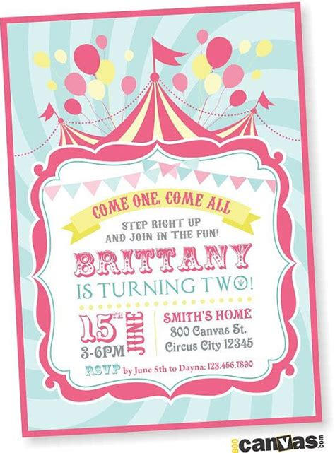 Come With Me Birthday Invite by 25 Best Ideas About Carnival Invitations On