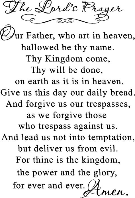 printable version of the lord s prayer 5 finger prayer for kids coloring pages