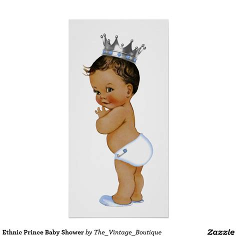 Baby Shower Prince by Ethnic Prince Baby Shower Poster Bebe Beb 233 Y Bautizo