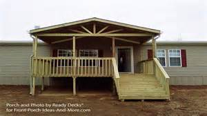 covered porch house plans covered wood deck on mobile home studio design