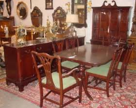 799 1940 s 10 mahogany dining room set lot 799