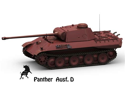 Ac 2365 Original 3d model panther panzer ausf d