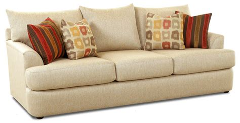 accent pillows for sofa three three sofa with accent pillows by klaussner