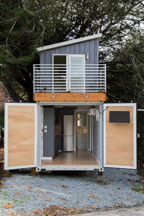Small Homes Made From Shipping Containers Two Story Shipping Container Tiny House For Sale